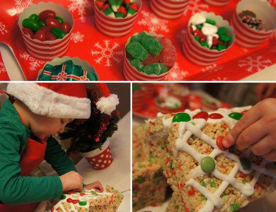 Rice Krispie Gingerbread House - DolledUpDesign