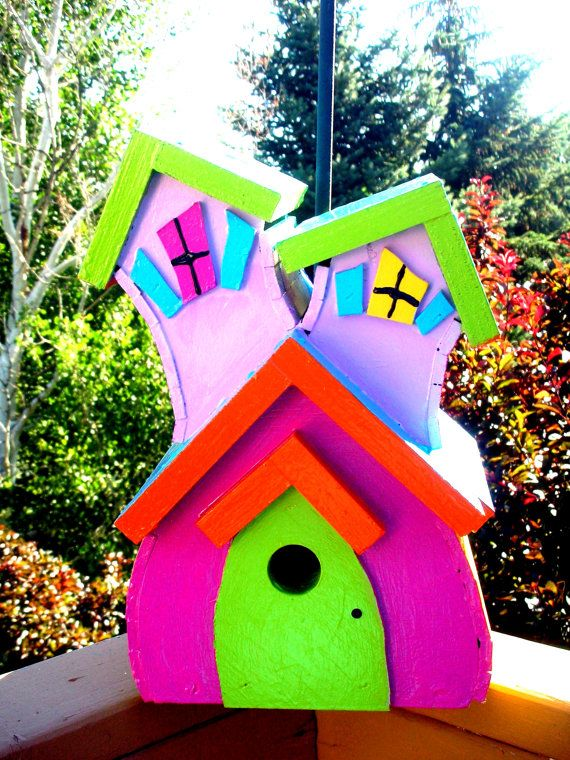 What an awesome handmade bird house!! If I liked birds I would totally ...