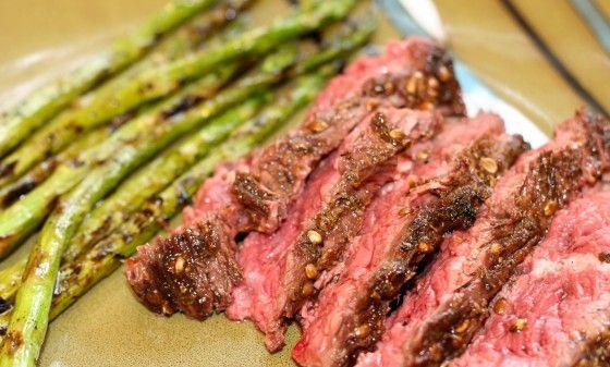 Coriander-Crusted Hanger Steak Recipe — Dishmaps