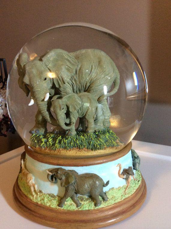 Music box elephant water globe by MoonwaterGems on Etsy:)