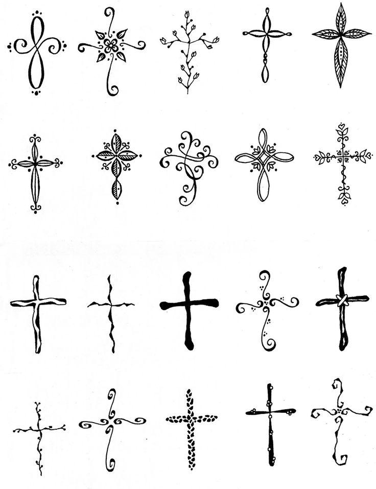 Feminine cross tattoo ideas tattoos and piercings d for Small feminine cross tattoos