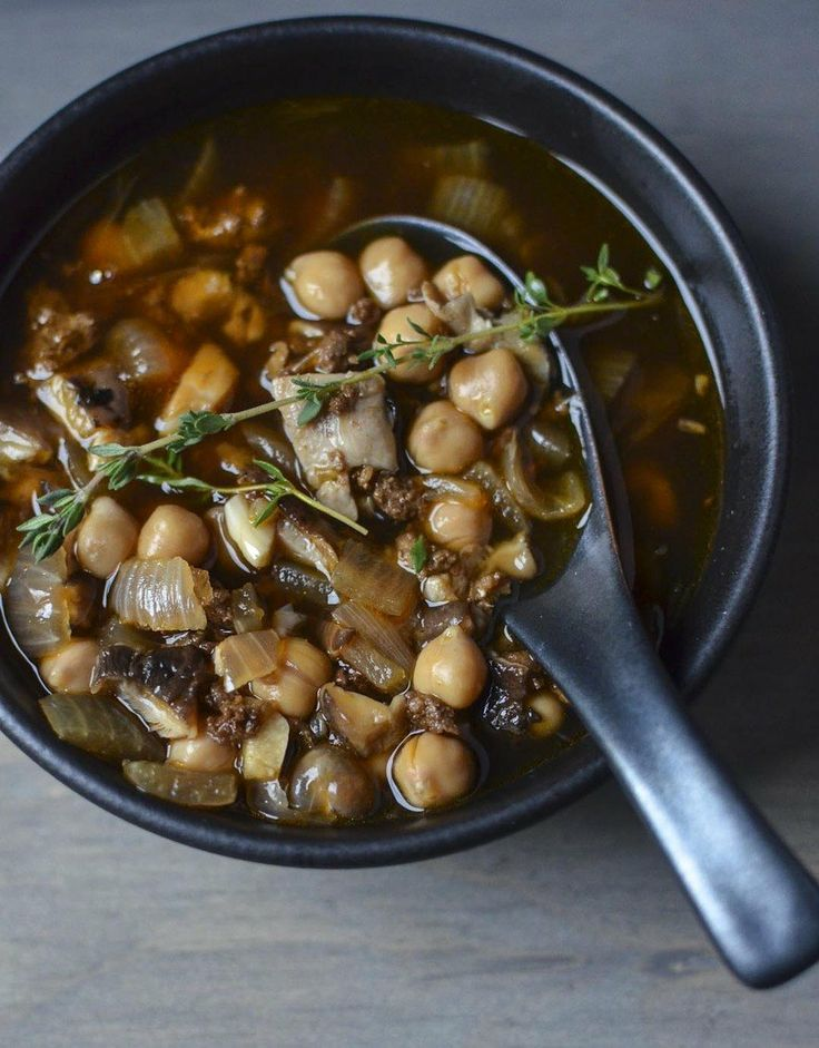 Recipe: Chorizo Soup with Shiitake Mushrooms & Chickpeas — Recipes ...