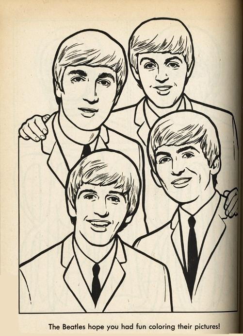 The Beatles Coloring Page 05   paper dolls, and paper art ...