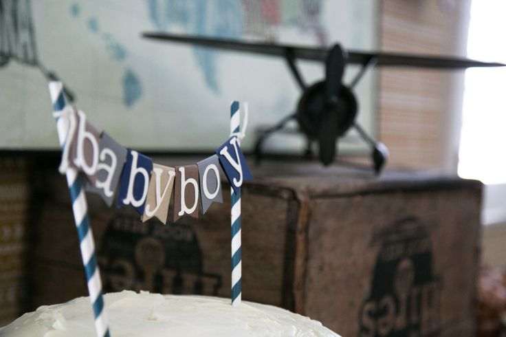 {Ideas for a Vintage Travel-themed Baby Shower} - click to see more pictures! #babyshower