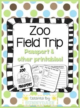 zoo field trip passport printables education pinterest. Black Bedroom Furniture Sets. Home Design Ideas