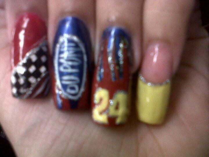 brilliant nascar nail art 19 accordingly inspiration article - Nascar Nail Art – Slybury.com