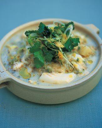 cod potato and spring onion stew