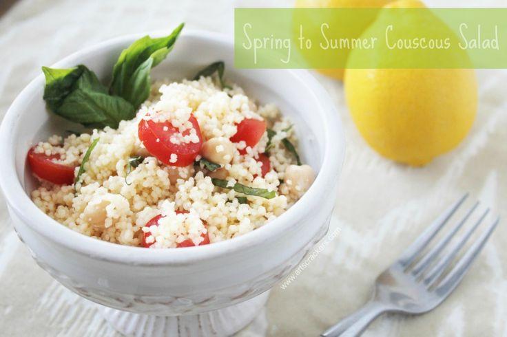 spring to summer couscous salad recipe | Bon Appetit | Pinterest