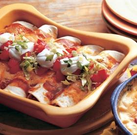 Lighter Version Chicken Enchiladas | Healthy Recipes | Pinterest