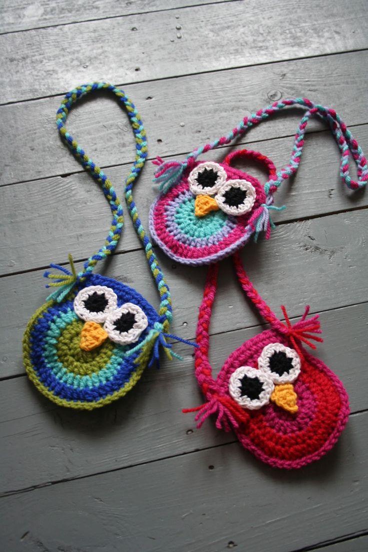 Free Crochet Patterns For Owl Purses : little owl purse Crochet Little Girls Purses Pinterest