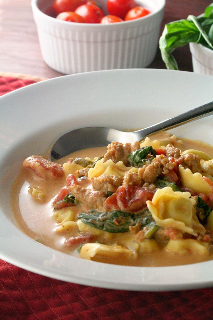 Italian Sausage & Tortellini Soup   Soup   Pinterest