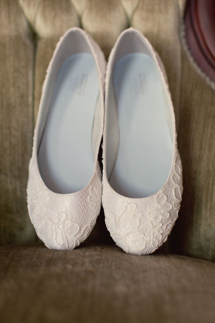 Wedding Dresses With Flats : Simple and elegant lace ballet flats wedding dress