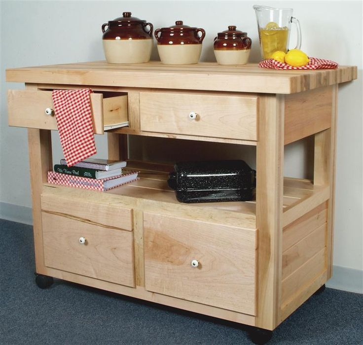 amish crafted maple kitchen island with casters