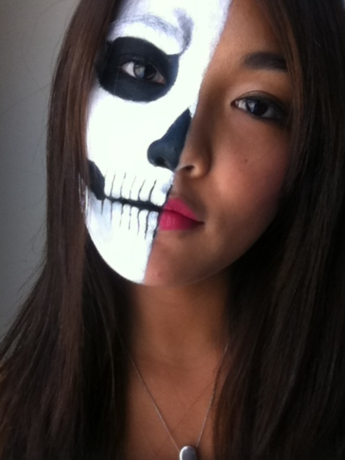 Half Face Skull Make Up | Scare Tactics | Pinterest