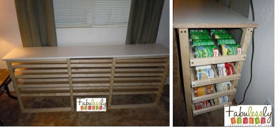 Detailed How To with a Picture Tutorial about how to make your own rotating can storage shelf. http://bit.ly/IeIltf