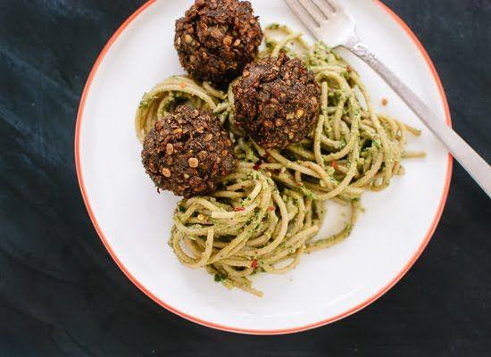Vegetarian Lentil and Mushroom Meatballs | Recipe