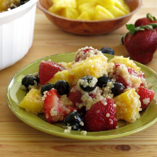 Quinoa Fruit Salad with Honey Lime Dressing #glutenfree #vegan # ...