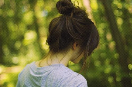 korean bun tumblr soooo cute hairs pinterest