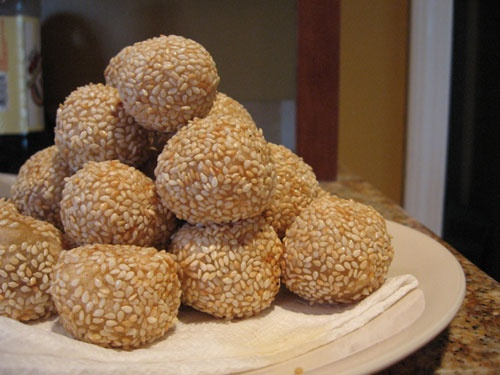 Chocolate Sesame Balls Recipe — Dishmaps