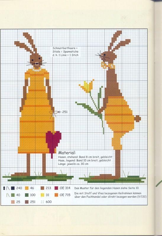 Вышивка крестом схема зайца 467