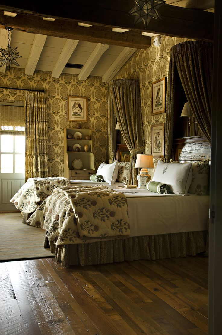 Classical Bedroom with Statement Wallpaper