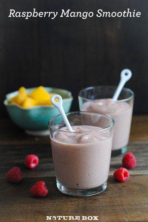 Raspberry Mango Smoothie | Drinks | Pinterest
