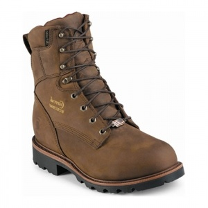 SALE - Mens Chippewa Arctic Waterproof Boots Brown Leather - Was $228