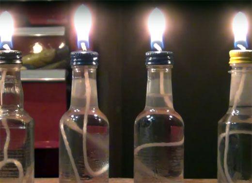 Масляная свеча своими руками