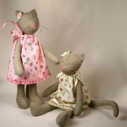 Куклы Тильды ручной работы.  Ярмарка Мастеров - ручная работа Тильда кошка малышка.  Ручная работа.
