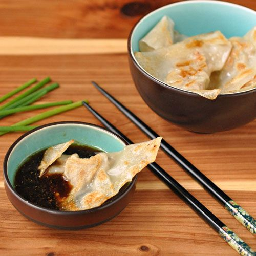 Pork & Chive Pot Stickers | App'ys and Dips and Snacks | Pinterest