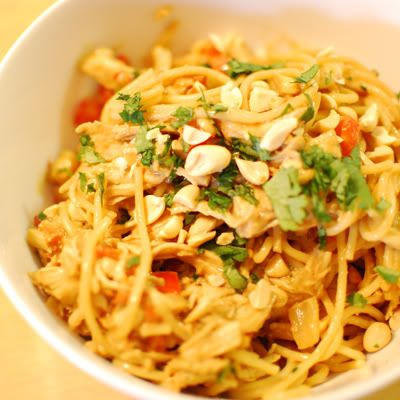 Thai Chicken Peanut Noodles | .bon appetit | Pinterest