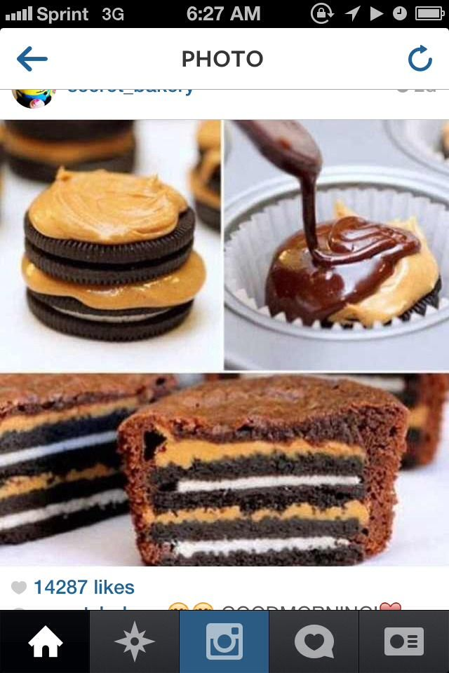 Oreo Peanut butter Brownie | Love me some food | Pinterest
