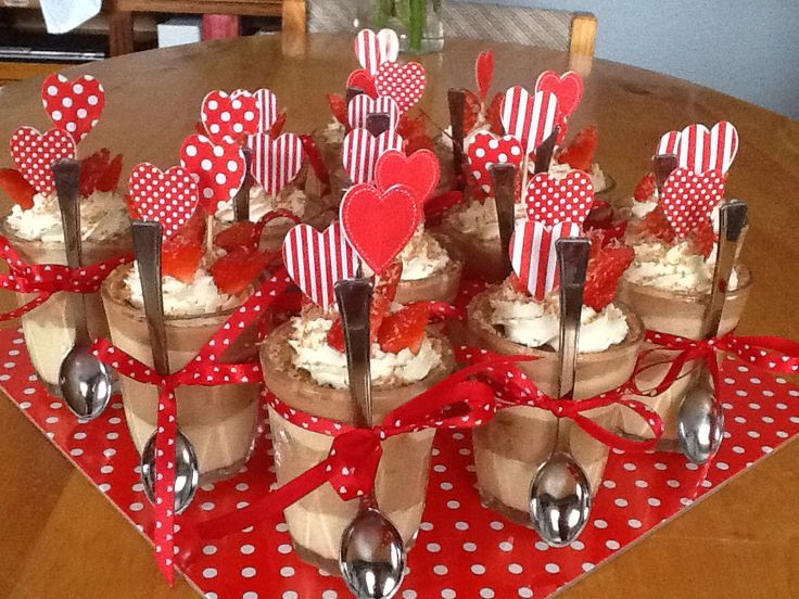 Valentines Day Chocolate Mousse | Desserts | Pinterest