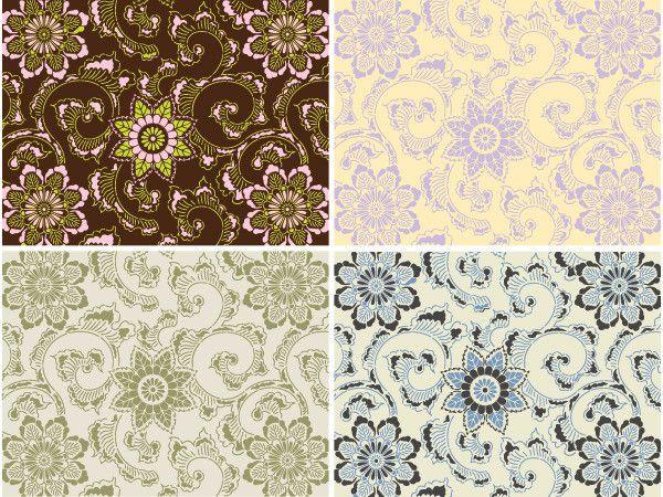 Pretty Yellow and Lavender Stencil for bathroom!    Allover Pattern Stencils | Kimono Allover Stencil | Royal Design Studio