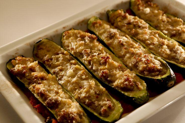 Recipe: Zucchini stuffed with Italian sausage Recipe from LA Times