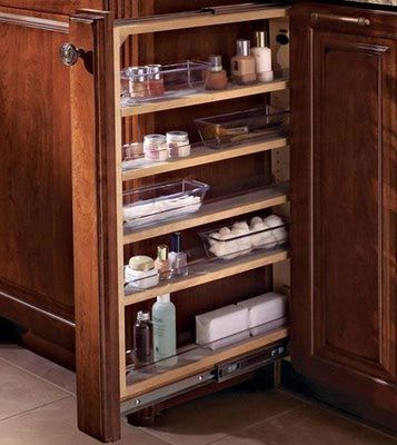 Narrow filler cabinet for kitchen kitchens pinterest for Narrow kitchen cabinet