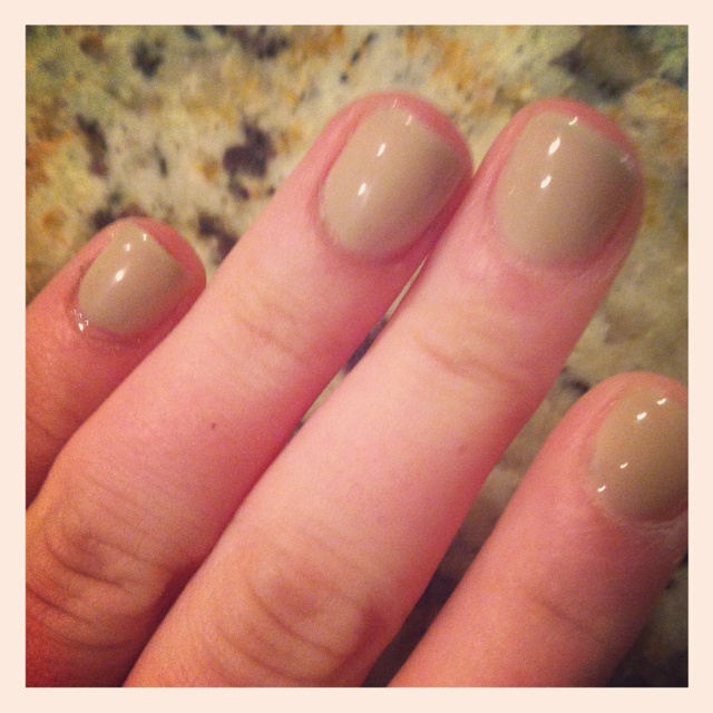At home RedCarpet gel manicure in Taupe! | Gel Polish | Pinterest