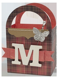 Trendy box made with Close To My Heart's new Cricut Art Philosophy Collection!