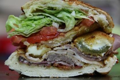, turkey, bacon, ham, mozzarella sticks, stuffed jalapeno poppers ...