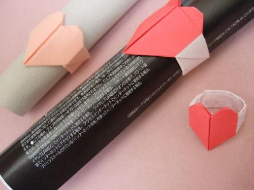 DIY Origami Heart Ring