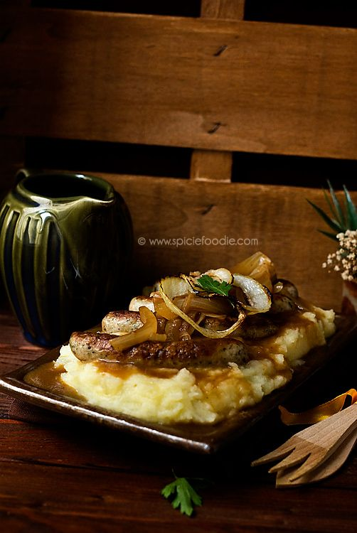 Bangers and Mash with Onion Gravy | #bangersandmash #british #sausage ...