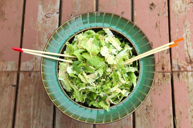 Sesame Napa Cabbage Salad - glorified coleslaw with Asian flare.