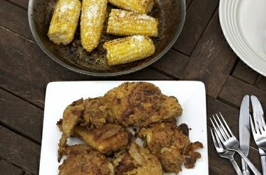 Corn On The Cob with Lime Butter and Cotija Cheese