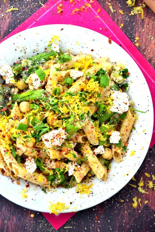 Asparagus Goat Cheese Pasta Salad + links for other summer grilling ...