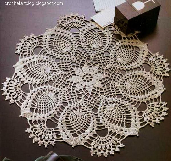 Crochet Patterns Doilies : pineapple doily pattern Crochet-doilies Pinterest