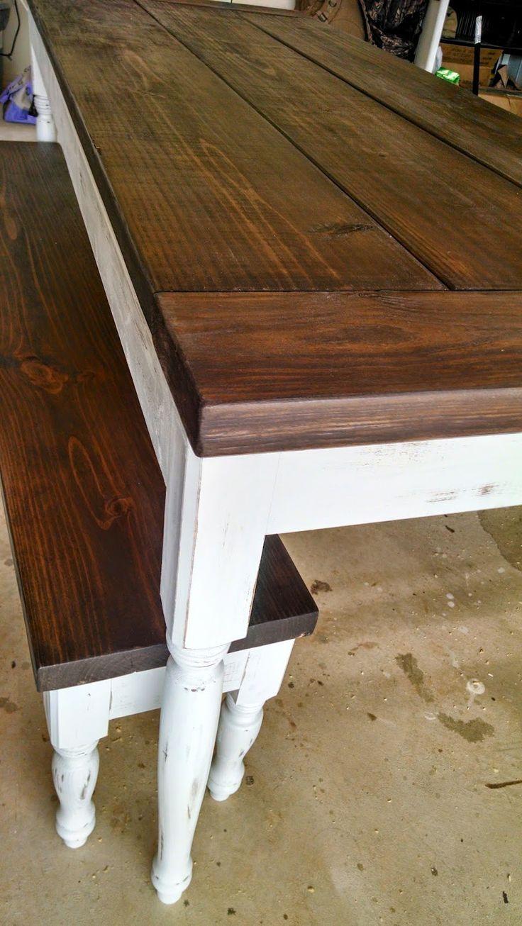 Diy country farm table diy pinterest for Farm table legs diy