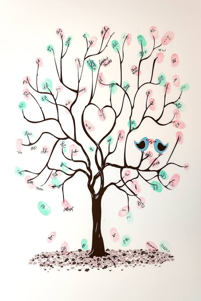 Baby shower guest book tree to sign baby berger pinterest