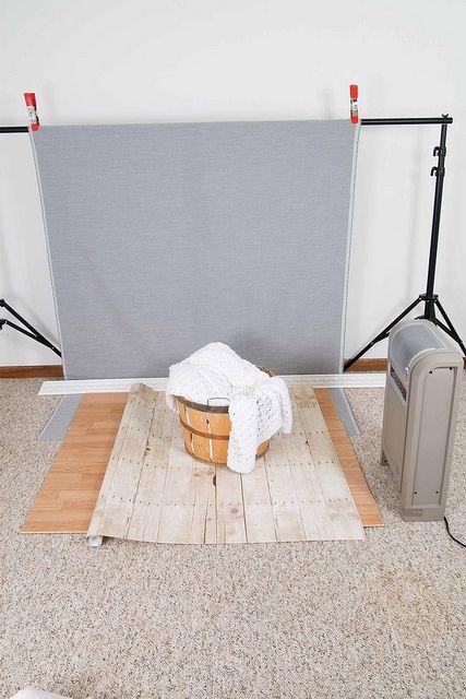 DIY photo backdrop and photo shoot set up.