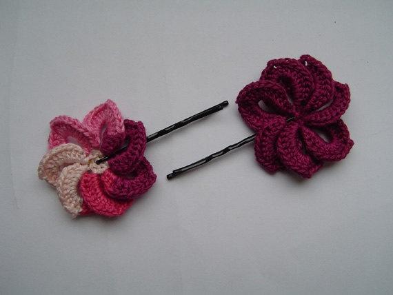 Crochet Hair Pins : Pin by Jaziel Peralta on Hair pin crochet Pinterest