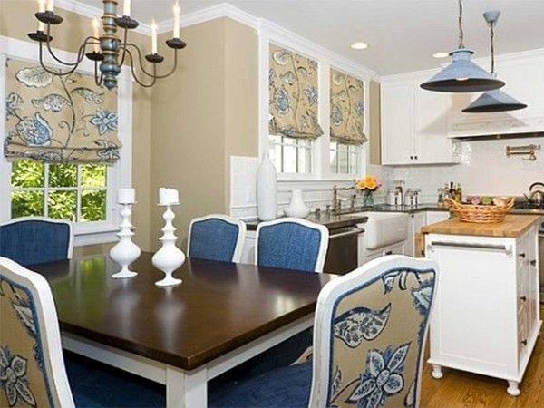 Lovely navy blue dining room design dining room pinterest for Navy dining room ideas
